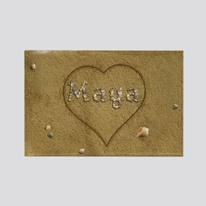 Maya Beach Love Rectangle Magnet