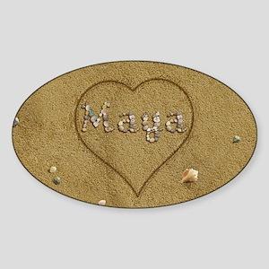 Maya Beach Love Sticker (Oval)
