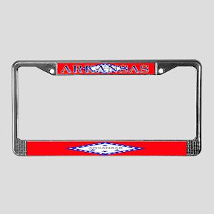 Arkansas State Flag License Plate Frame