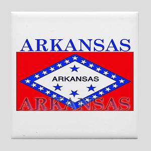 Arkansas State Flag Tile Coaster