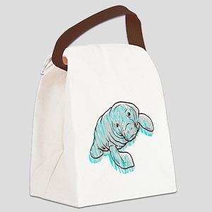 Scribble Scrabble Manatee Canvas Lunch Bag