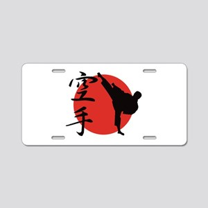 Karate Aluminum License Plate