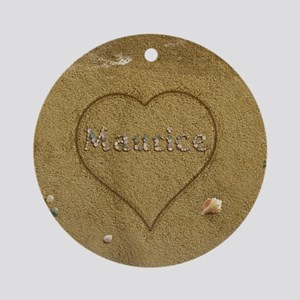 Maurice Beach Love Ornament (Round)