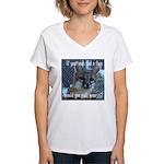 Fox Coat Women's V-Neck T-Shirt