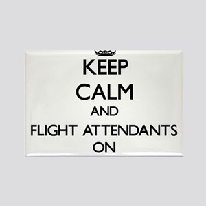 Keep Calm and Flight Attendants ON Magnets