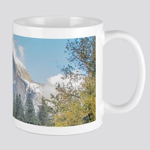 Autumn Mountain & River Scene Mug