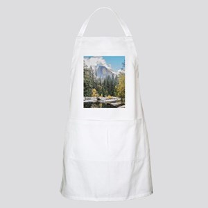 Autumn Mountain & River Scene Apron