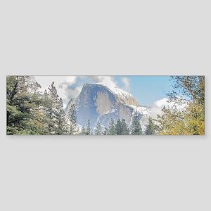 Autumn Mountain & River Scene Sticker (Bumper)