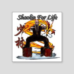 Shaolin Kanji Dragon Monk Square Sticker