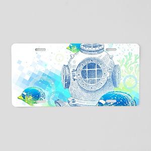 Deep Sea Diver Aluminum License Plate