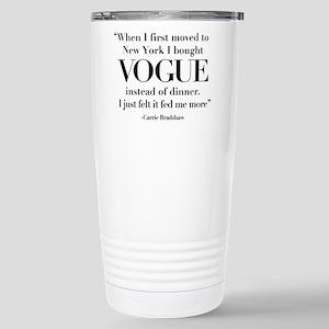 SATC: Vogue For Dinner Stainless Steel Travel Mug