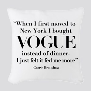 SATC: Vogue For Dinner Woven Throw Pillow