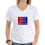 'Major League Survivor' Women's V-Neck T-Shirt
