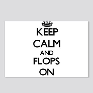 Keep Calm and Flops ON Postcards (Package of 8)