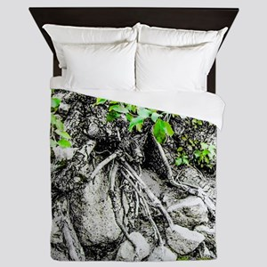 Rocks, Roots and Leaves Queen Duvet