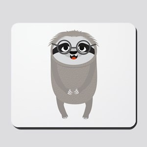 Nerd Sloth with Glasses Mousepad
