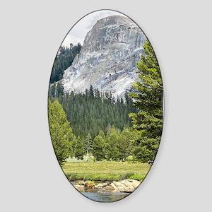 Mountain River Scene Sticker (Oval)