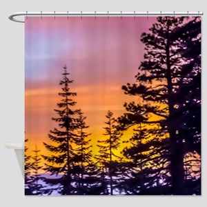 Evergreen Sunset Shower Curtain