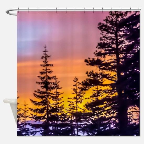 Evergreen Sunset Shower Curtain