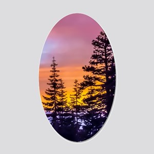 Evergreen Sunset 20x12 Oval Wall Decal