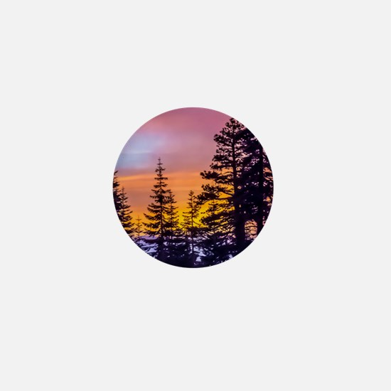 Evergreen Sunset Mini Button