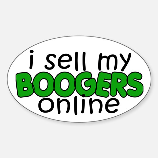 Boogers Oval Decal