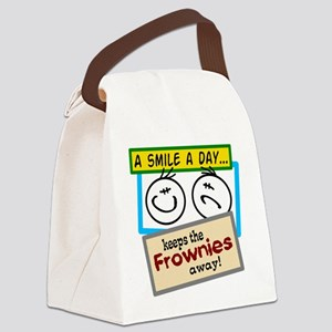 A Smile A Day Canvas Lunch Bag