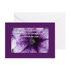 Psalm 136:4 Greeting Card