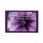 Psalm 136:4 Rectangle Magnet (10 pack)
