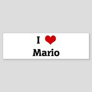I Love Mario Bumper Sticker