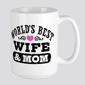 World's Best Wife & Mom Large Mug