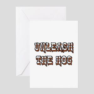 Biker Hog Greeting Card