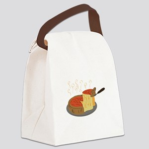 Deep Dish Pizza Canvas Lunch Bag