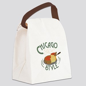Chicago Sign Canvas Lunch Bag