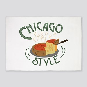 Chicago Sign 5'x7'Area Rug