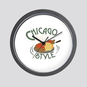 Chicago Sign Wall Clock
