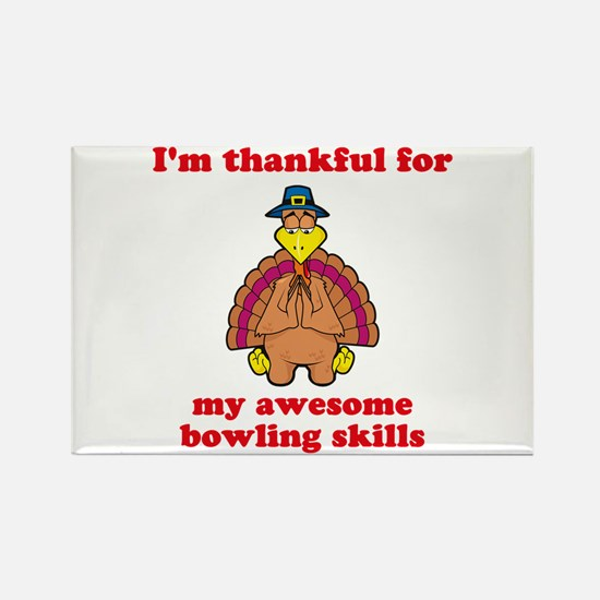 Bowling Skills Rectangle Magnet
