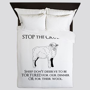 Sheep Cruelty Queen Duvet