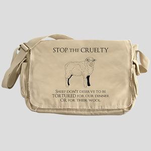 Sheep Cruelty Messenger Bag
