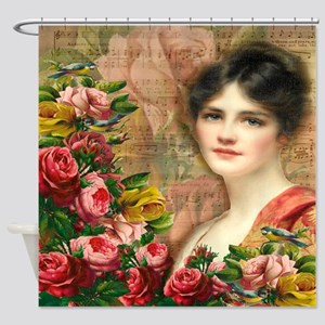 The Lady Rosa Shower Curtain