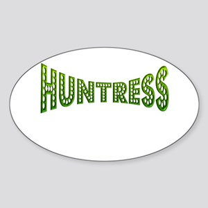 huntress female hunter gifts Oval Sticker