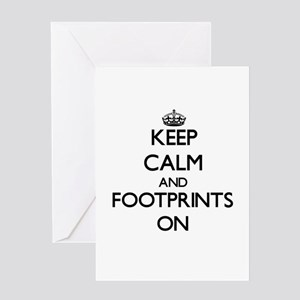 Keep Calm and Footprints ON Greeting Cards