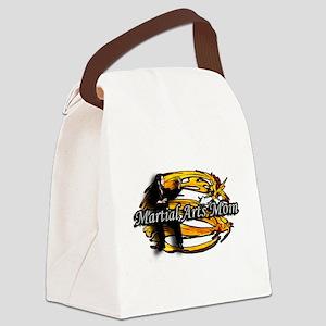 Martial Arts Mom Gold Dragon Canvas Lunch Bag