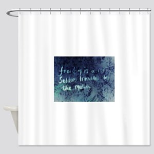 'Freedom is a road seldom travelled Shower Curtain