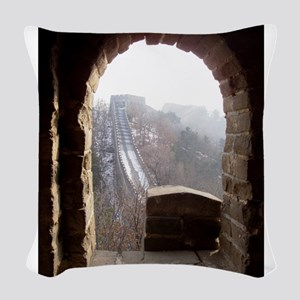 Wall from the Tower Woven Throw Pillow