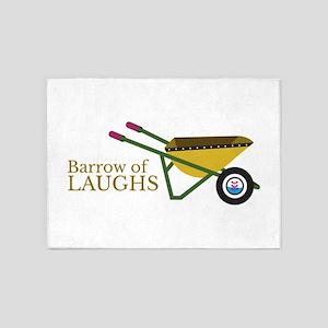 Barrow of laughs wheelbarrow 5'x7'Area Rug