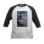 Raccoon Coat Kids Baseball Jersey
