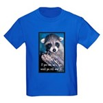 Raccoon Coat Kids Dark T-Shirt