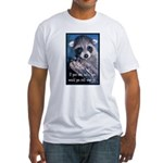 Raccoon Coat Fitted T-Shirt