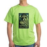 Raccoon Coat Green T-Shirt